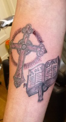 Holy bible tattoo